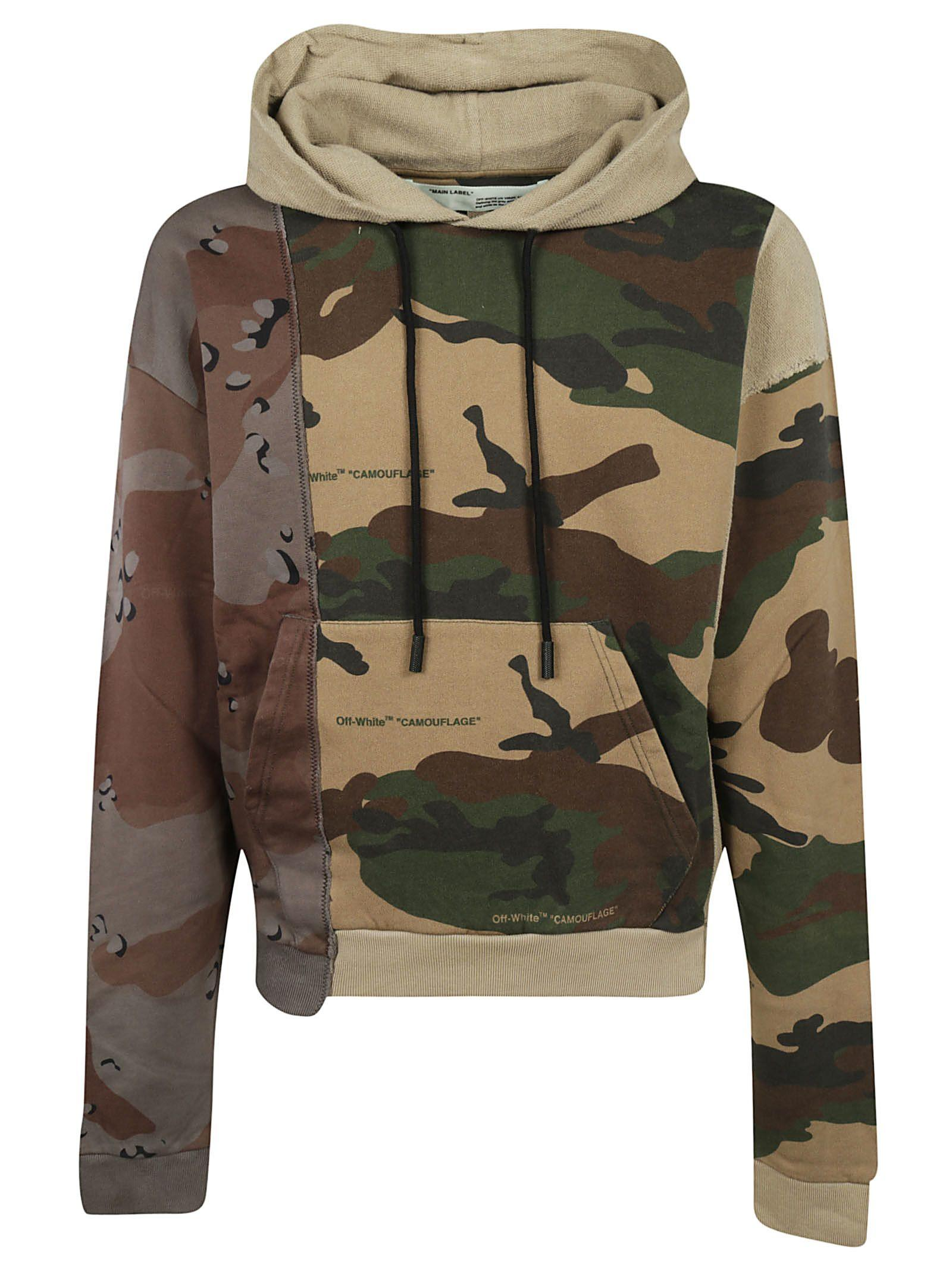 656948310871 Off-White Men s Reconstructed Camo-Print Hoodie Sweatshirt