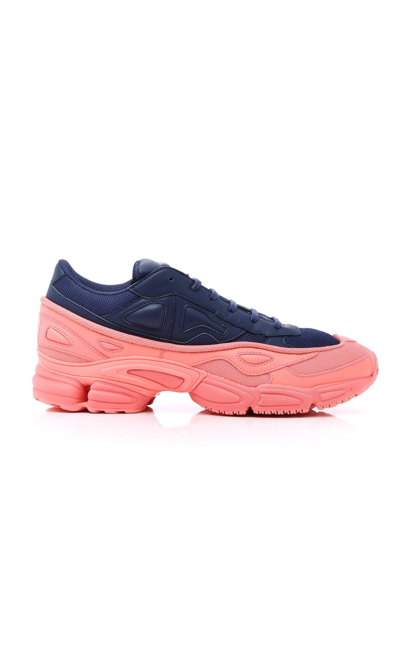 a3e3f18d7f8098 Adidas By Raf Simons Ozweego Blu Pink Leather Sneakers In Blue ...