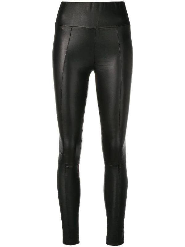 fa804cc9717842 pintuck leather leggings. Black pintuck leather leggings from Sprwmn ...