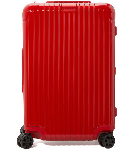 Rimowa Essential Essential Trunk Plus Large Suitcase In Red - Polycarbonate - 31,5x17x14,8 In Red Gloss
