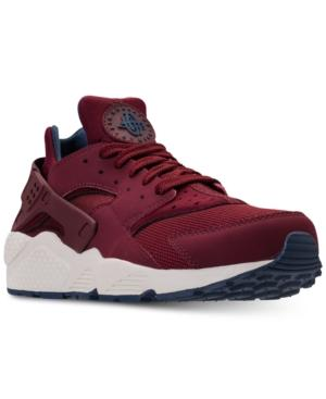 2bd6e6a4c794d Nike Men s Air Huarache Run Running Sneakers From Finish Line In Team  Red Team Red