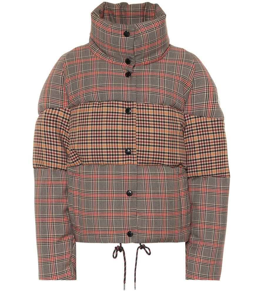 604fc1b28 CHECKED WOOL-BLEND DOWN JACKET