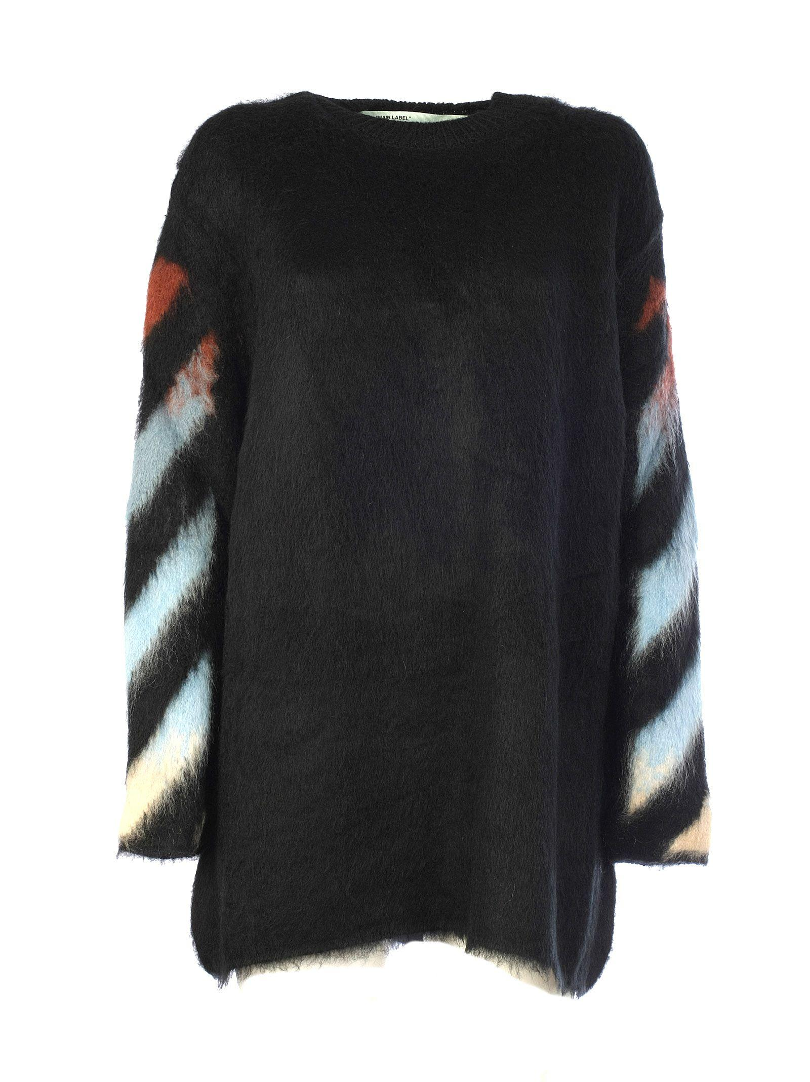 1d193d3083ea Off-White Diagonal-Print Mohair Intarsia Sweater In Black