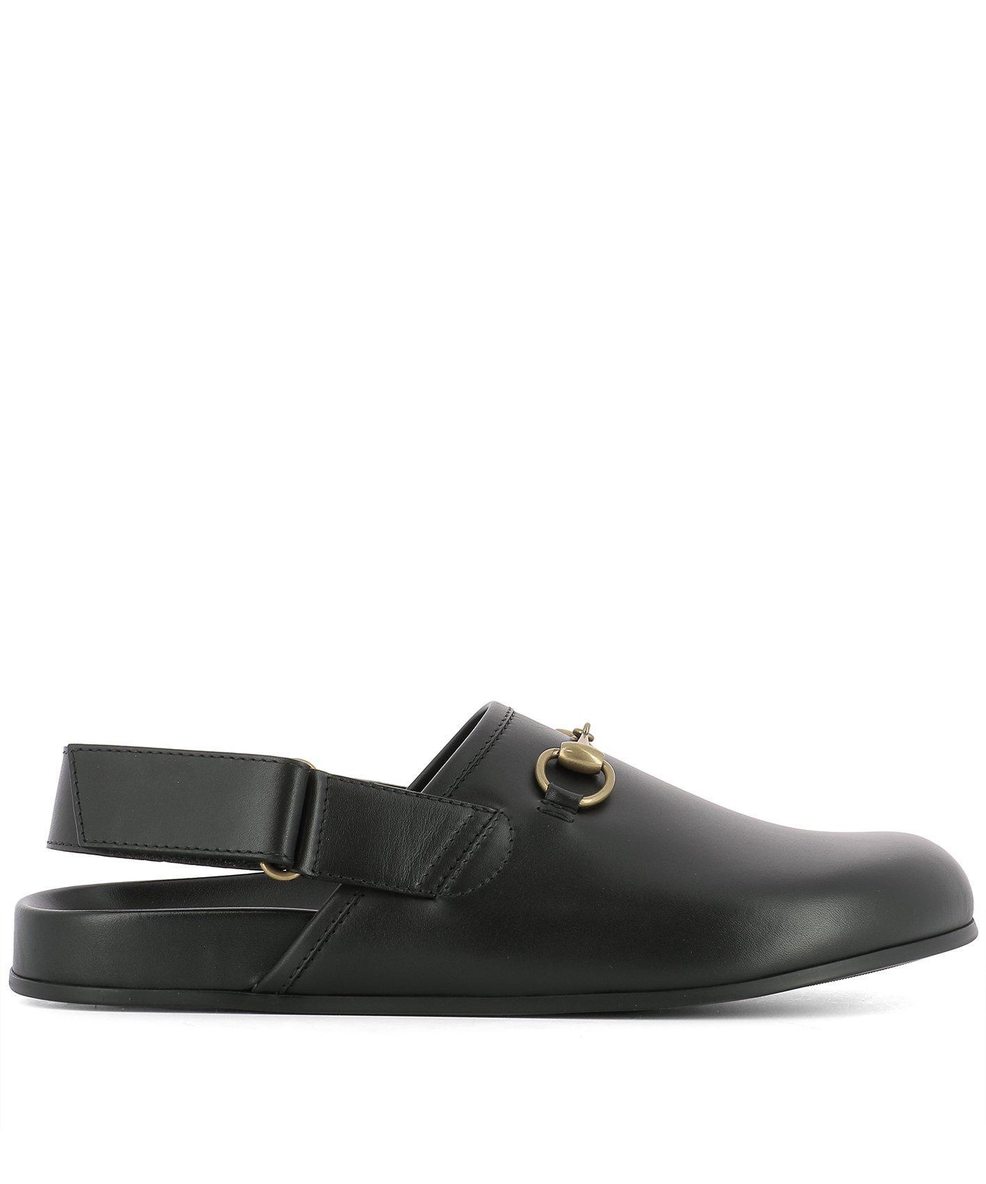 62c4bfa51418 Gucci River Horsebit Leather Slipper In Black
