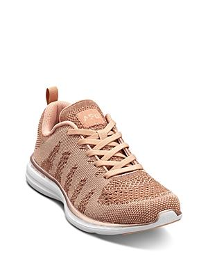 ed03463fd23f Apl Athletic Propulsion Labs Athletic Propulsion Labs Women s Techloom Pro  Knit Lace Up Sneakers In Rose
