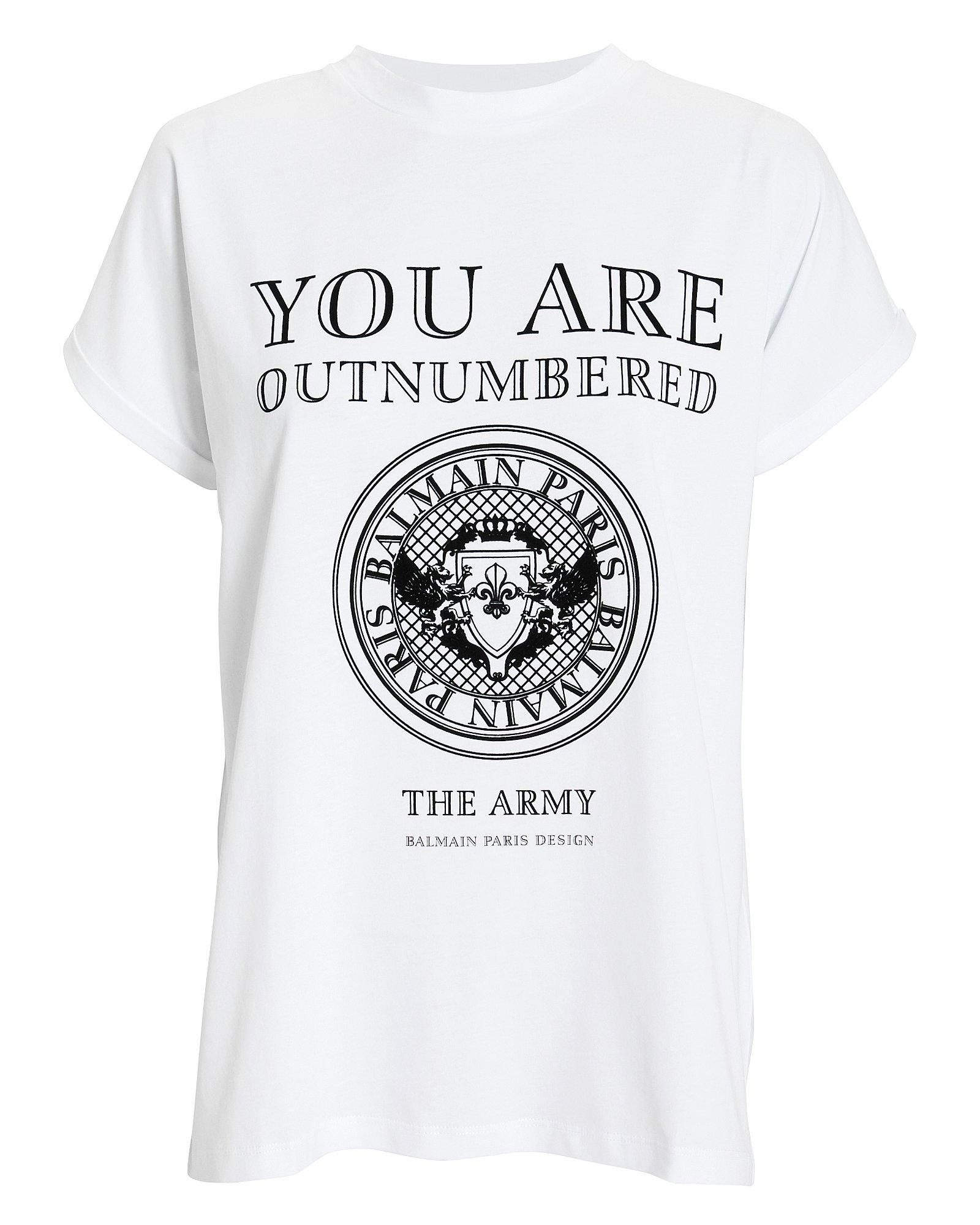 4c409ef0 Balmain You Are Outnumbered Short-Sleeve Graphic-Print Jersey T-Shirt In  White