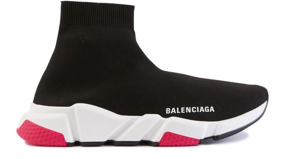 Balenciaga Low-top Sneakers Speed Runner  Polyester Polyurethane Logo Black