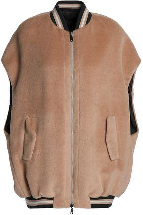 Brunello Cucinelli Woman Reversible Alpaca-Felt Bomber Jacket Blush