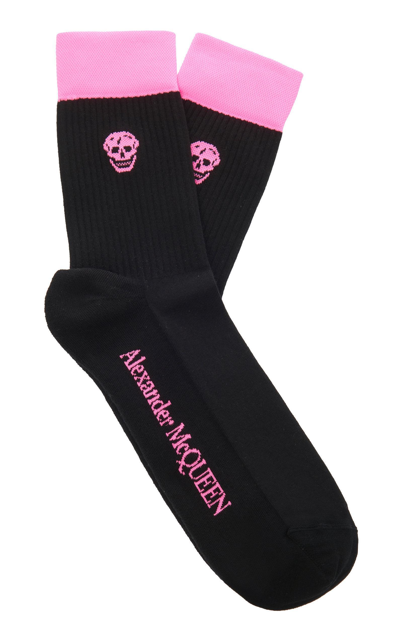 ebb7e382299a1 Alexander Mcqueen Skull-Motif Cotton-Blend Socks In Black | ModeSens