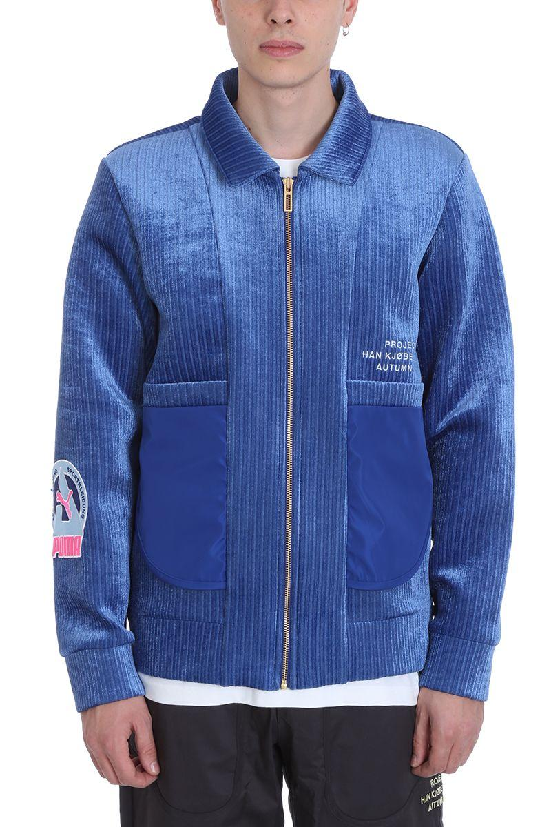 Puma X Han Kjobenhavn Blue Wool Jacket | ModeSens