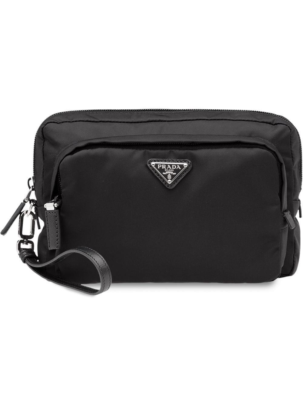 9d02b6f3f244 Prada - Logo Embellished Nylon Camera Pouch - Mens - Black | ModeSens