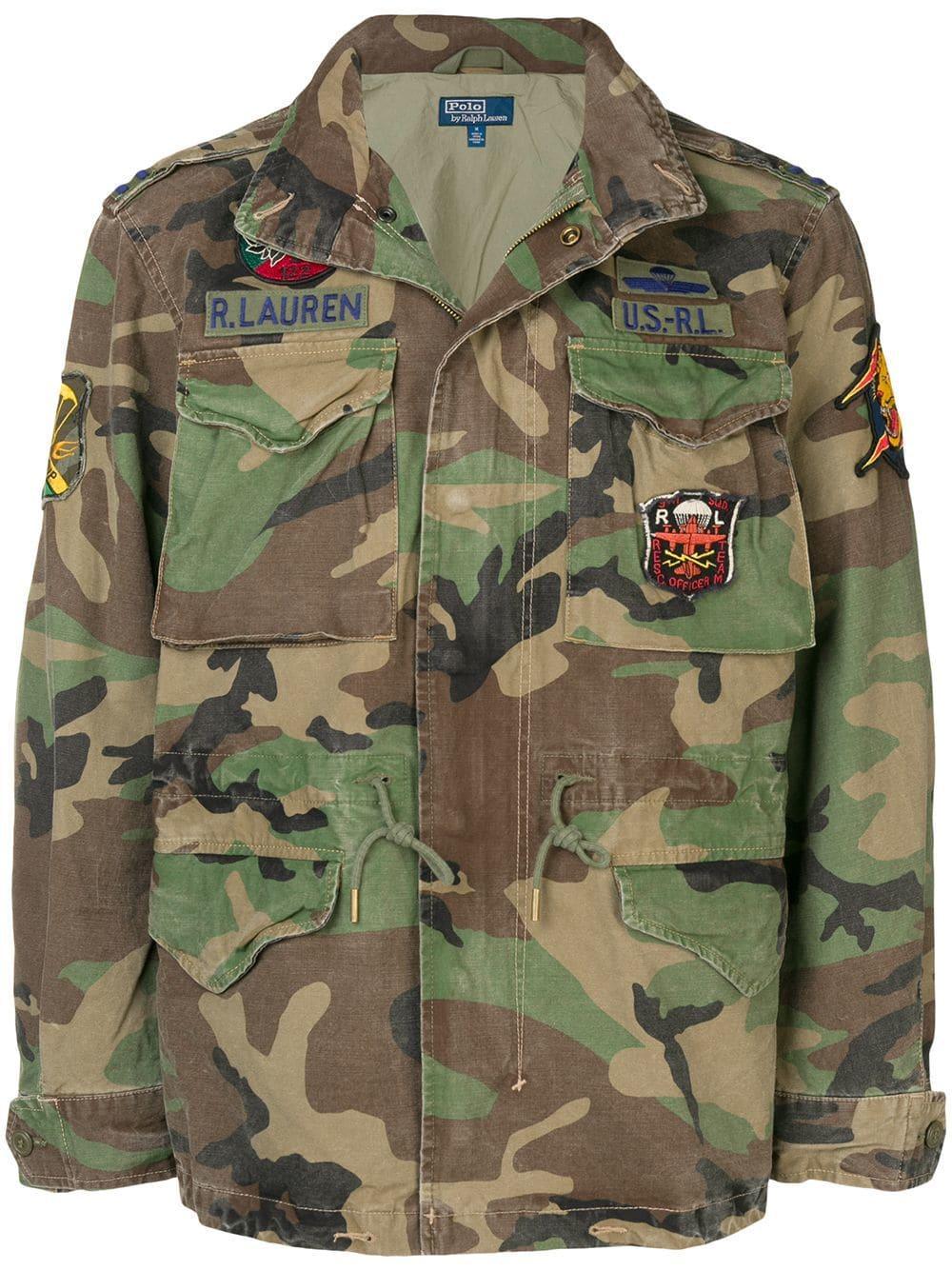 ff635880f8740 Polo Ralph Lauren Camouflage-Print Field Jacket In Green | ModeSens