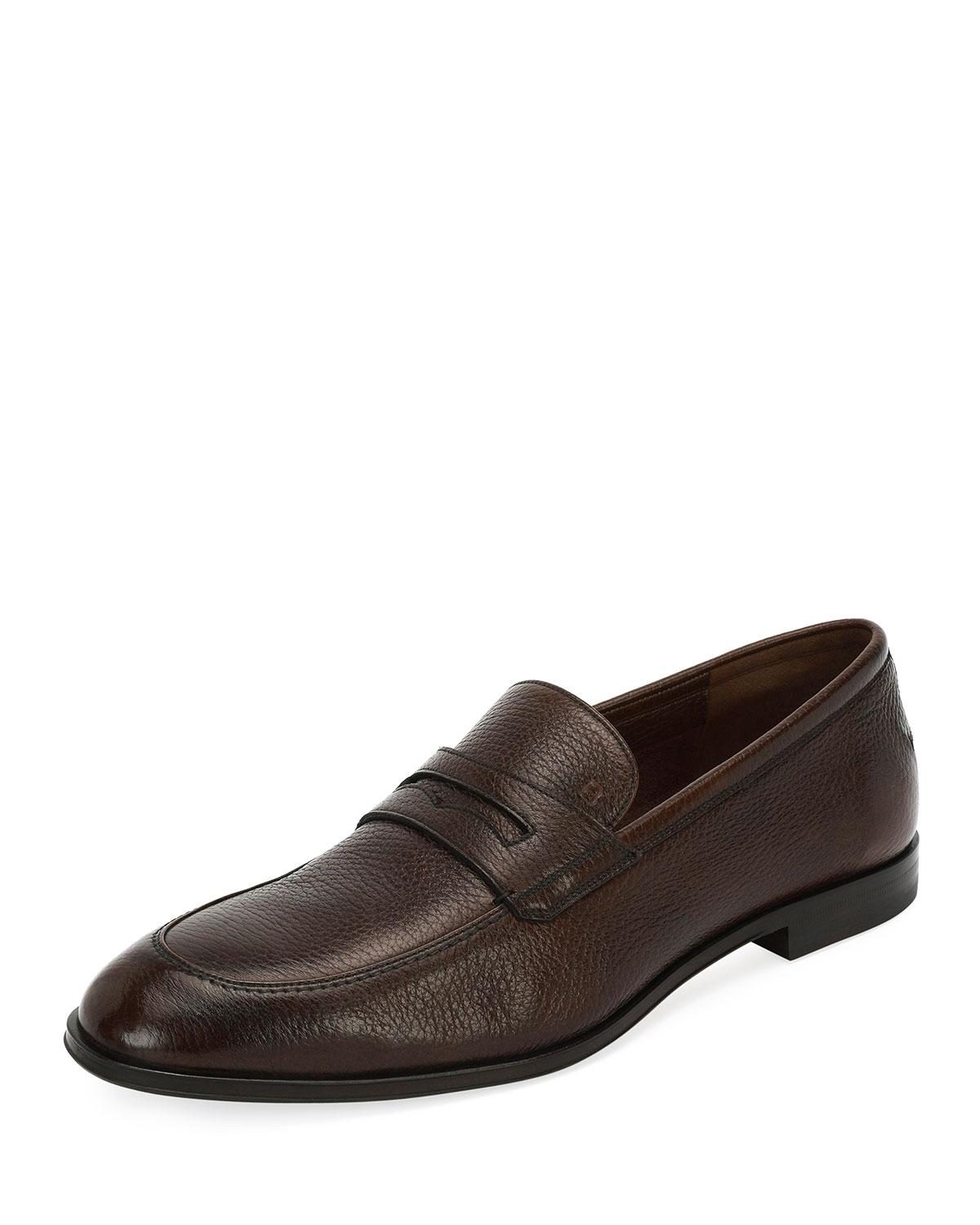 abc513f3d21 Bally Men s Relon Leather Penny Loafer Drivers In Brown