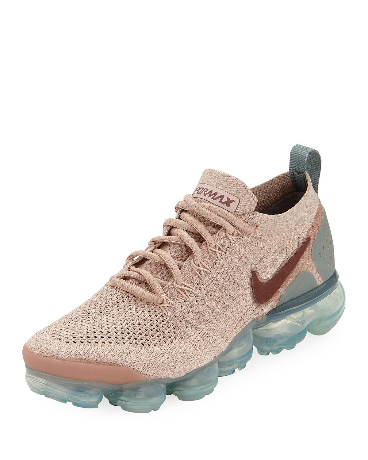 b2cda69118 Nike Women's Air Vapormax Flyknit 2 Running Shoes, Brown In Blush ...