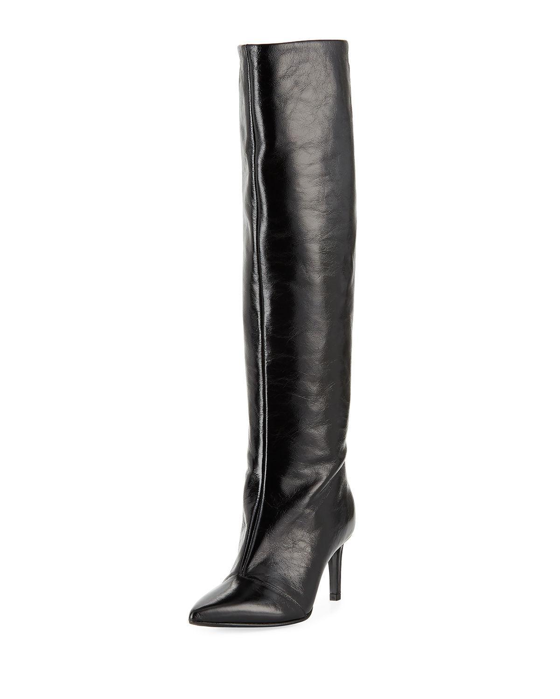 37f71a6458a Rag   Bone Beha Leather Knee-High Boots - Black