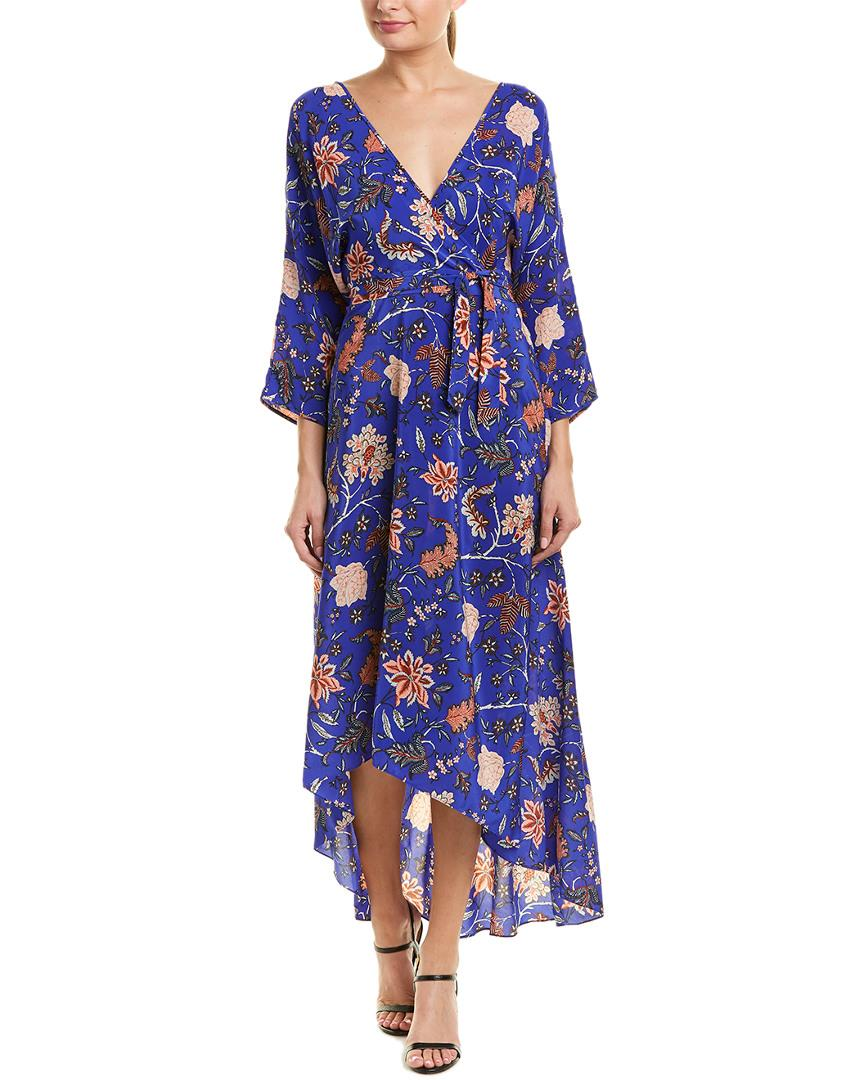 3bbe97af733 Diane Von Furstenberg Printed Silk Wrap Maxi Dress In Canton