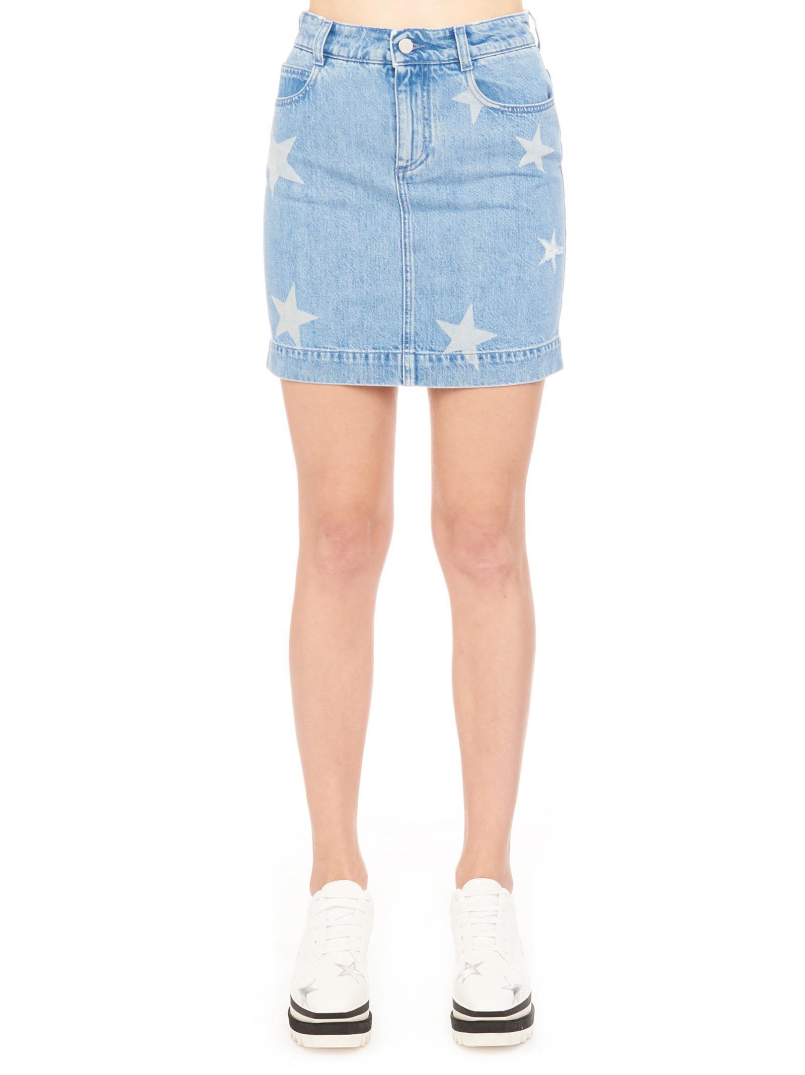 f3b201bf30 Stella Mccartney Denim Skirt With Stars In Blue | ModeSens