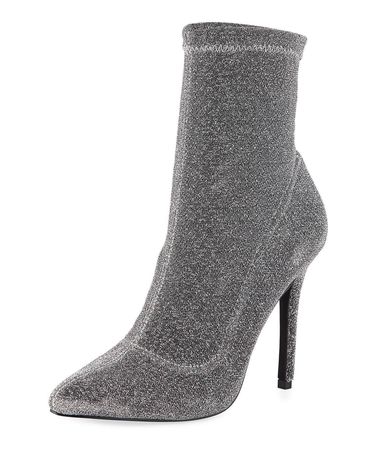 8fa3b9a4e0 Charles By Charles David Puzzle Stretch Glitter Booties In Gunmetal ...
