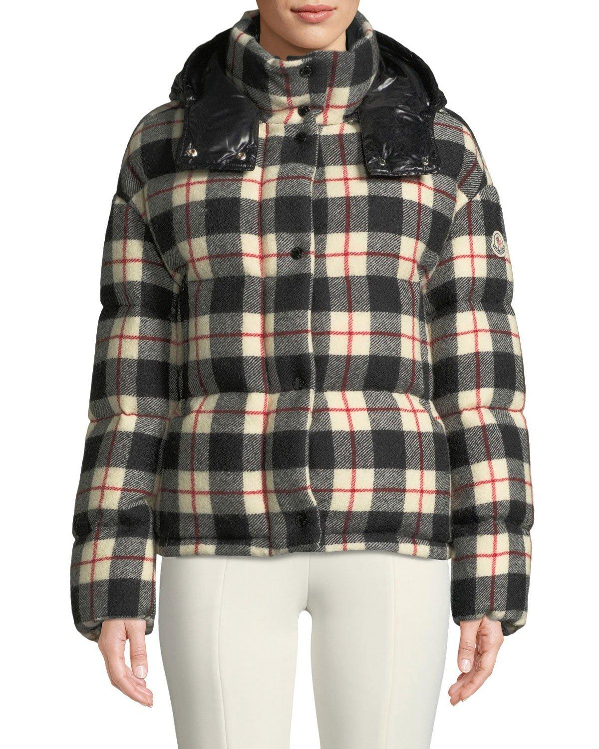 515bc950a CAILLE PLAID PUFFER COAT W/ REMOVABLE HOOD