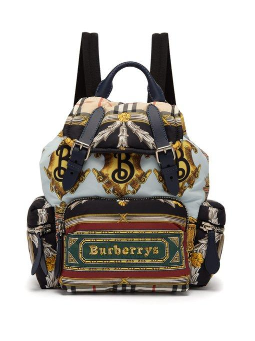 71326113e50b Burberry The Medium Rucksack In Archive Scarf Print In Blue