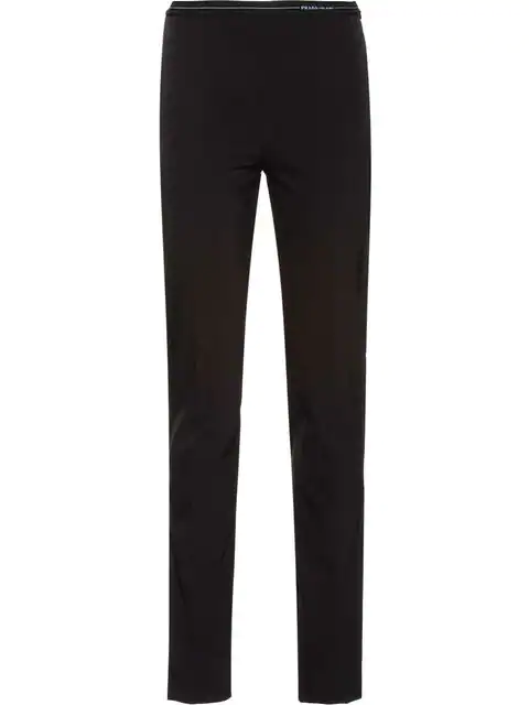 Prada Technical Fabric Trousers In Black