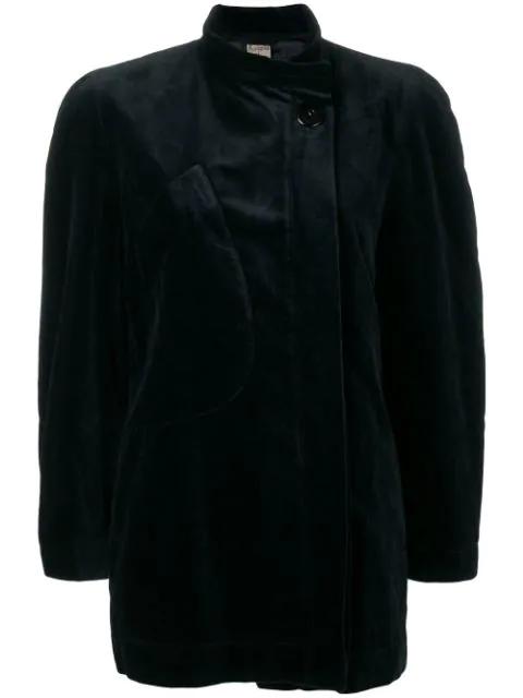 Krizia Vintage Long-sleeve Jacket In Black