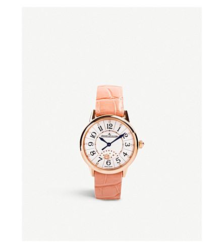 Jaeger-lecoultre Q3462490 Rendez-vous 18ct Rose-gold And Satin Automatic Watch