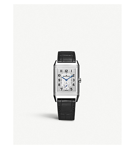 Jaeger-lecoultre Q3848420 Reverso Classic Duoface Stainless Steel And Leather Watch In Silver