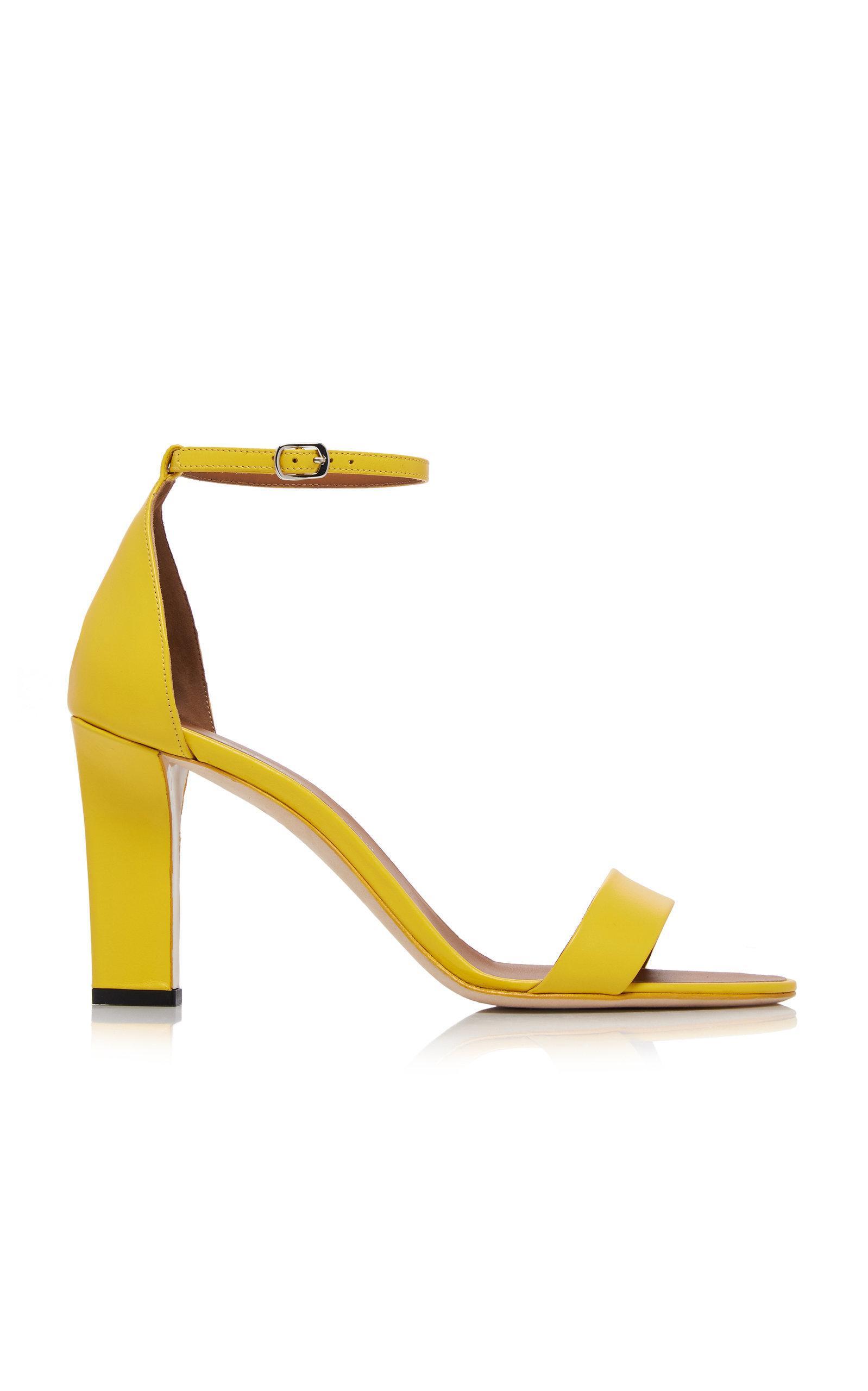 97e4f44848ce Victoria Beckham Chunky Heel Anna Sandal In Yellow