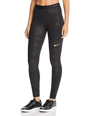 48c3e9e694cdbf Nike Metallic Dot-Print Performance Leggings In Black | ModeSens