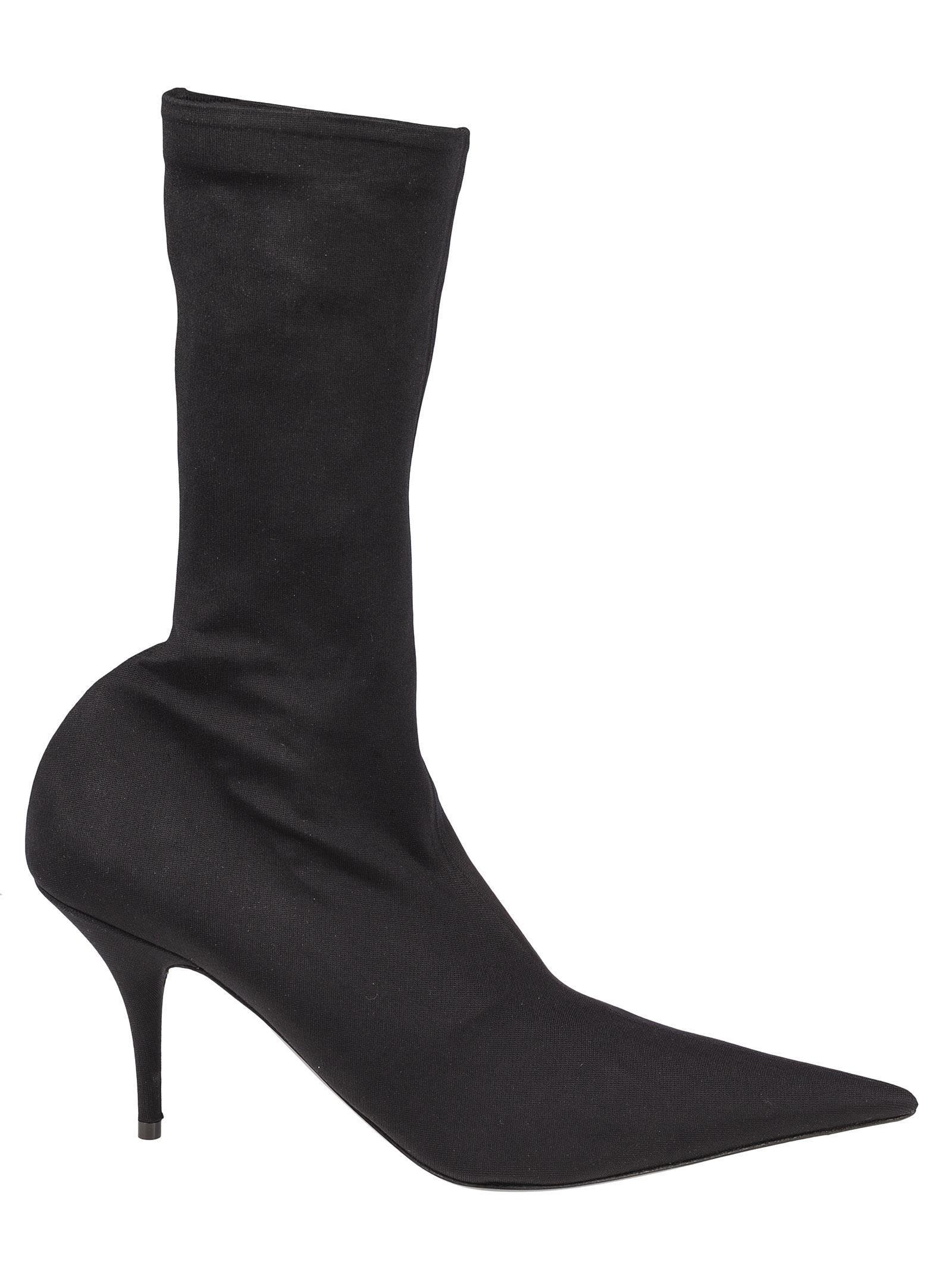 b5d11523f6e9 Balenciaga Ladies Black Knife 110 Spandex Heeled Ankle Boots