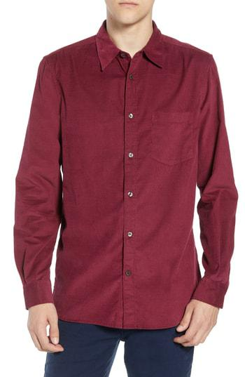 f99fdbfa38f53 French Connection 28 Wales Regular Fit Corduroy Shirt In Raspberry Beret