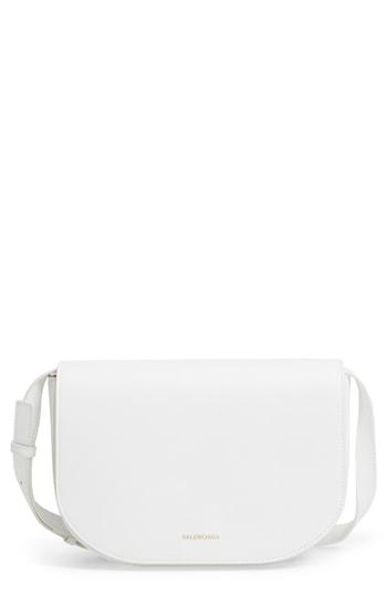 994aba3585 Balenciaga Ville Day Small Aj Grained Leather Shoulder Bag In Blanc  Noir