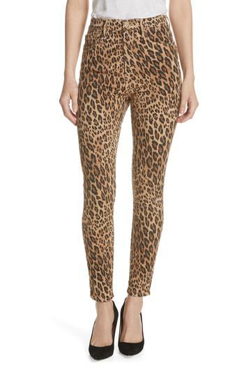 430f6a9bed00 Frame Ali Leopard Print High-Rise Cigarette Jeans In Camel Multi In Neutrals