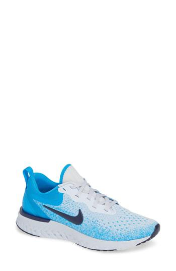 abed59e8717b Nike Odyssey React Running Shoe In Football Grey  Blue Void  Blue ...