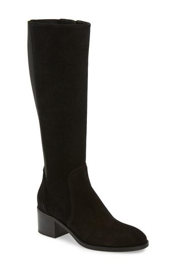 9e8ecc6413f Aquatalia Jordan Water Resistant Stretch Back Boot In Black Suede ...