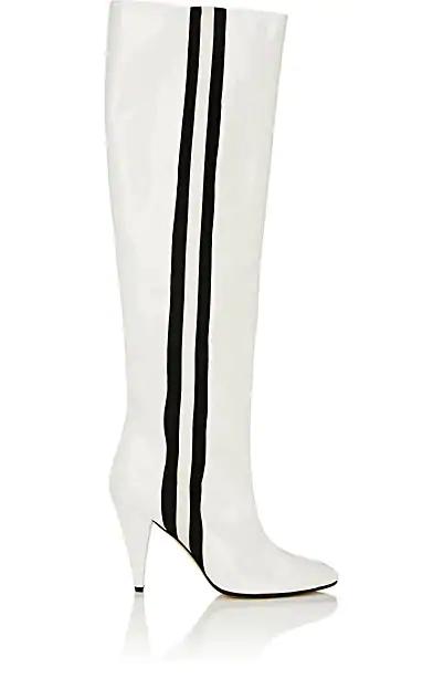 Alchimia Di Ballin Scorpi Patent Leather Knee Boots In White