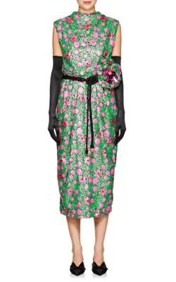 36a963d1bc1 Marc Jacobs Sequined Floral Tie-Waist Cocktail Dress In Green