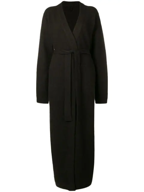 Ben Taverniti Unravel Project Unravel Project Long Knitted Robe - Brown