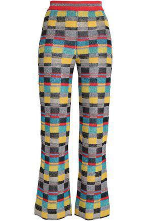 Missoni Woman Metallic Jacquard-knit Bootcut Pants Multicolor