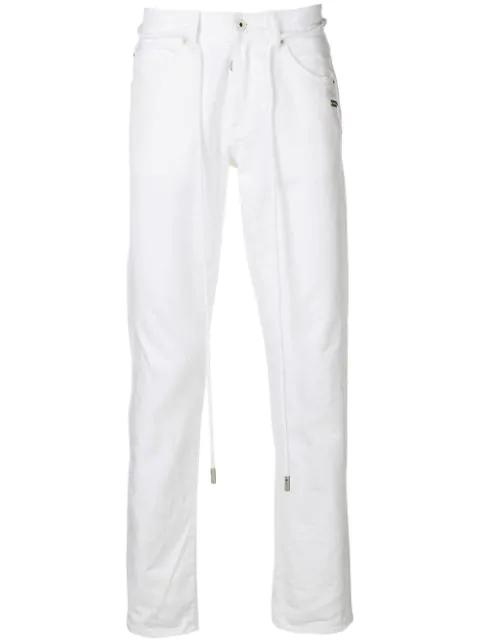 Off-white Slim Fit Back Dart Jeans In White