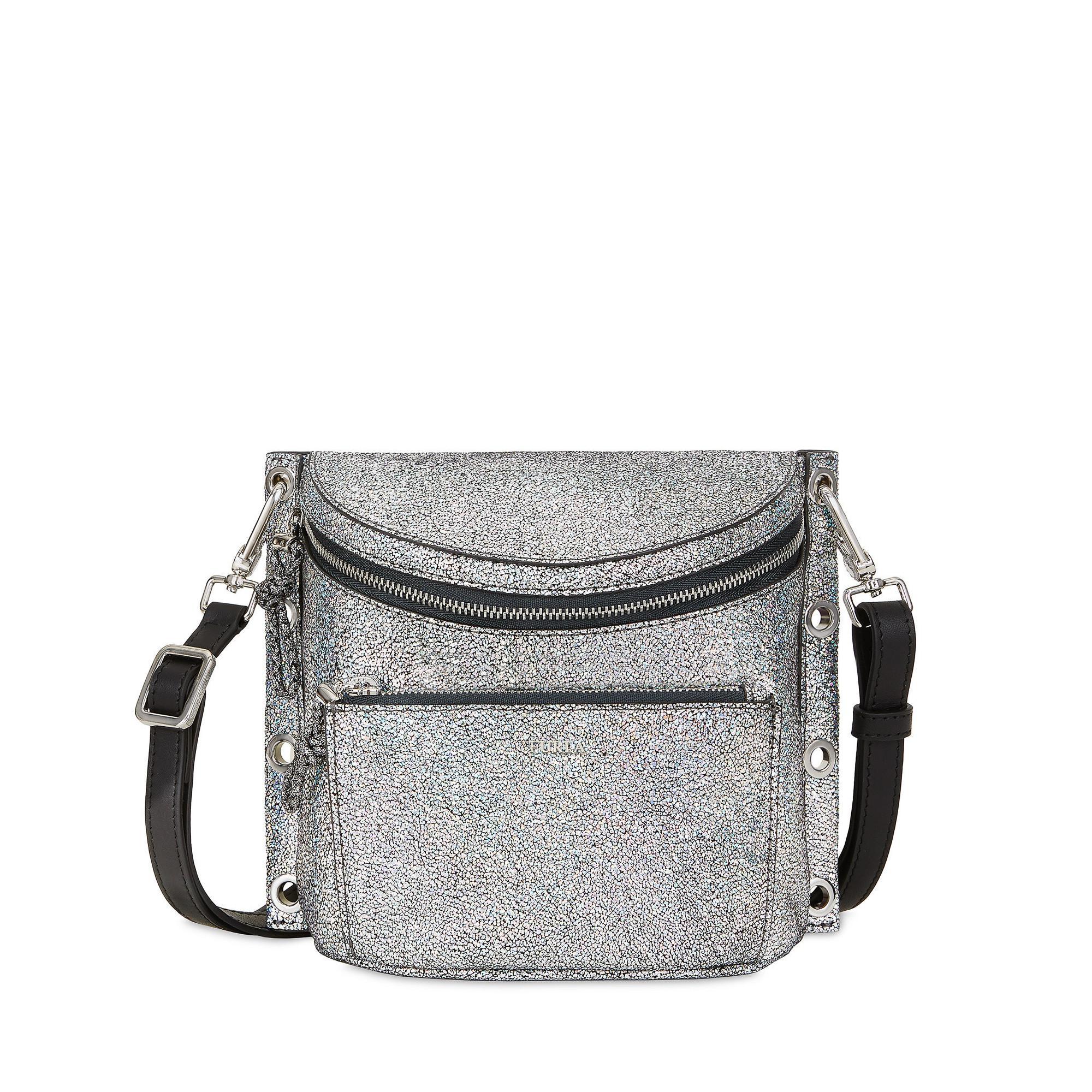 Furla Arcobalove Crossbody-Taschen Color Silver In Gray