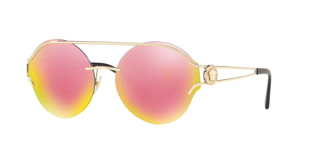 09509a1aba20 Versace Rock Icons Medusa 61Mm Metal Sunglasses - Pale Gold  Pink Mirror In  Pale Gold