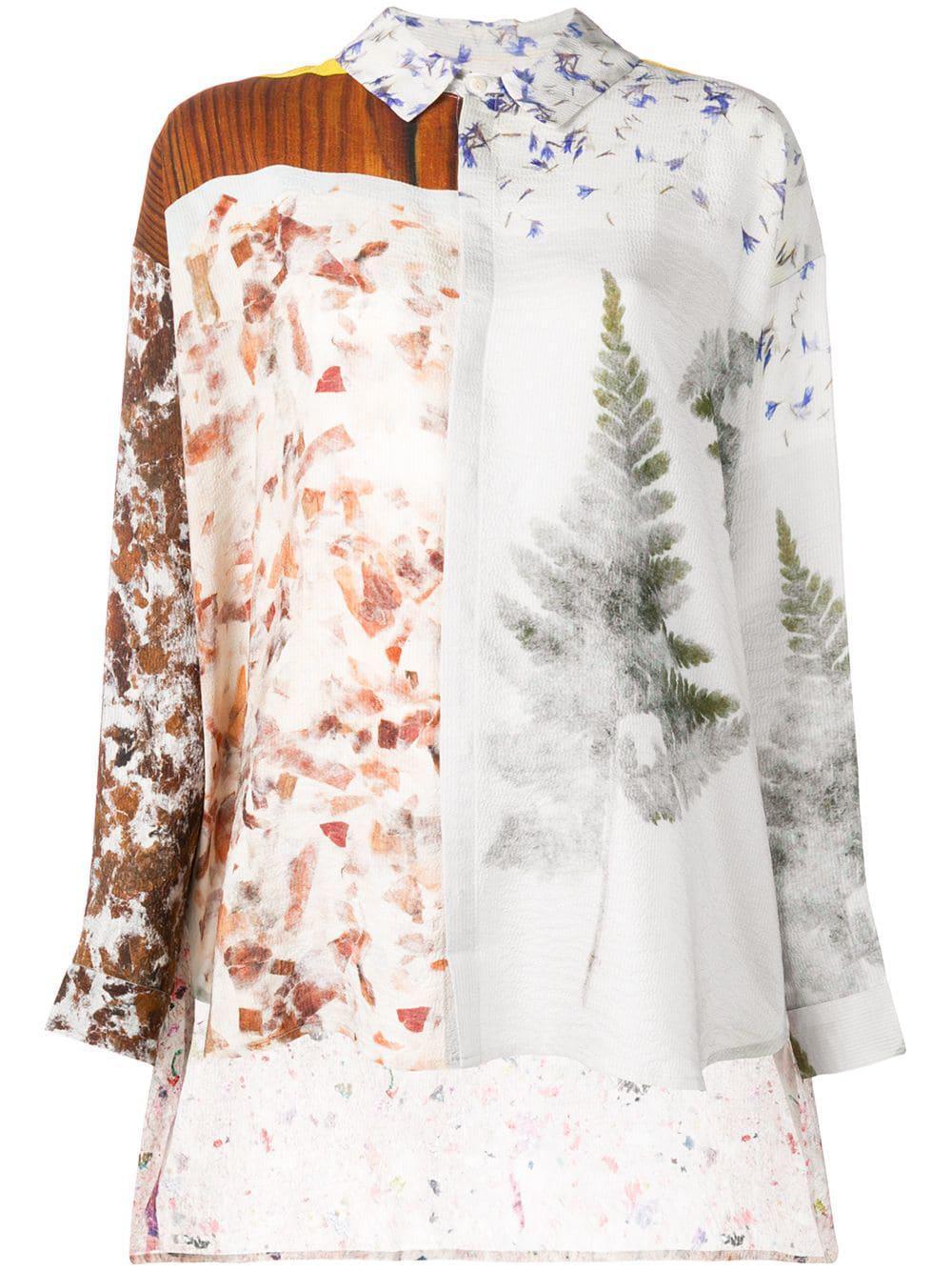 Anntian Floral Print Shirt - Grey