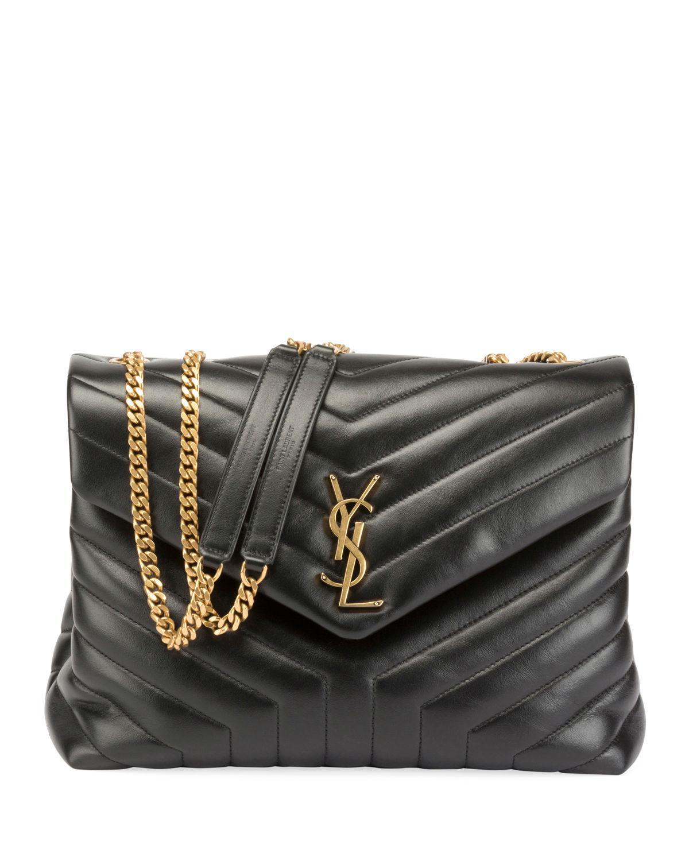 605f15e8d6 Saint Laurent Medium Loulou Matelasse Calfskin Leather Shoulder Bag - Black  In Noir/ Gold