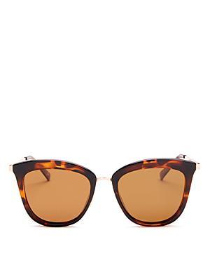 8419943c5b7e7 Le Specs Caliente 53Mm Polarized Cat Eye Sunglasses - Tortoise   Rose Gold