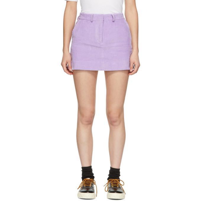 Ashley Williams Purple Executive Miniskirt In Lilac