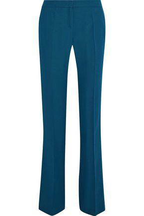 Iris & Ink Woman Patti Crepe Bootcut Pants Petrol