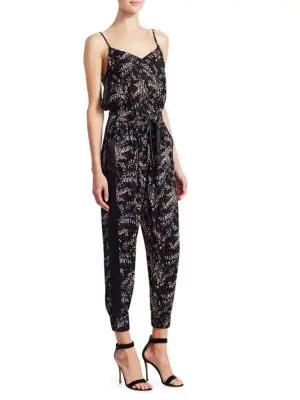 6dacc9a78bc Cinq À Sept Amia Sleeveless Floral Jumpsuit In Black Multi
