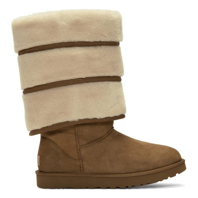 9f1b71fcff1 Y/PROJECT BROWN UGGS EDITION LAYERED BOOTS